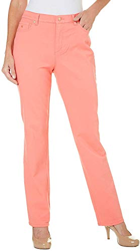 Gloria Vanderbilt Plus Size Amanda Classic-Fit Colored Denim Jeans (Bright Hibiscus, 6)