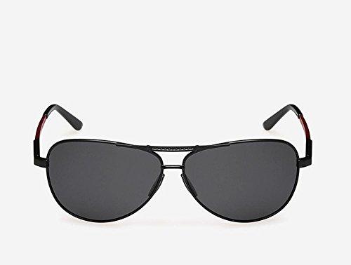 Caminante El Nuevo Aluminio Magnesio Polarizado Gafas De Sol Hombres Conducir Espejo De Color Brillante Espejo, Black Capullos