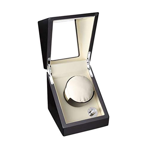 Oksmsa Cajas Giratorias para Relojes Automatico, Bobinadora para Relojes, Superficie del Espejo del Piano, Ningun Ruido, Diseño Negro (Color : White)