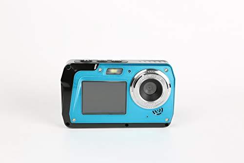 Camara Acuatica Sumergible Full HD 2.7K 48 MP 16X Zoom Selfie Pantalla Camara Fotos Acuatica Selfie Camara de Pantalla Dual 10 Pies Bajo el Agua