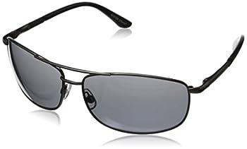 Foster Grant Mens Oscar Wrap Sunglasses,Gunmetal,64 mm