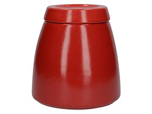La Cafetière Barcelona Boîte à sucre en céramique avec couvercle Rouge 12,7 x 12,7 x 13,6 cm