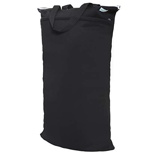 Wegreeco Reusable Hanging Wet Dry Cloth Diaper Bag (Black)