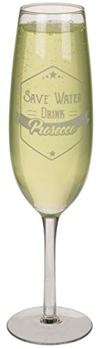 Out of the blue Prosecco-Glas, transparent, 35 cm