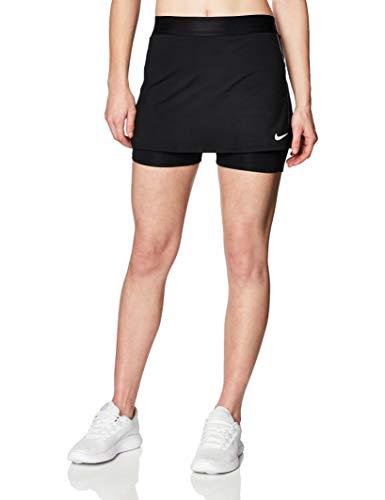 NIKE Nikecourt Dry Faldas, Mujer, Black/White/White, XL