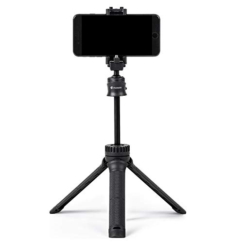 """GIZOMOS GP-15ST 35.4"""" Portable Phone Tripod with 2-in-1 Phone Holder and 1/4"""" Screw, Extendable Selfie Stick Tripod with Wireless Remote Control, for Selfies/Video Recording/Vlogging/Live Streaming"""