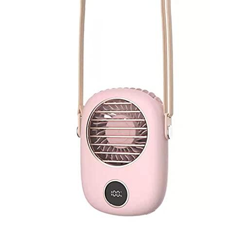 HAOXIU Ventilador de cuello colgante sin hojas para el cuello, digital, silencioso, deportivo, viaje, personal, para interior y exterior, 3 velocidades