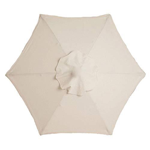 Ersatz-Sonnenschirm-Abdeckung, 2 m, 6 Arme, Gartenschirm-Stoff-Baldachin, Anti-Ultraviolett, wasserdicht für Garten-Sonnenschirm-Ersatzabdeckung