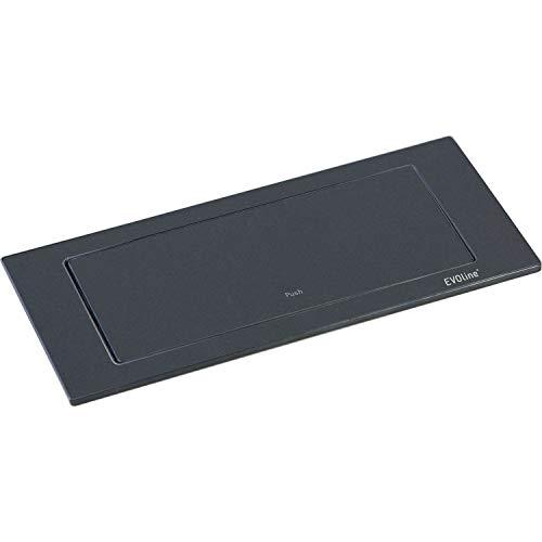 EVOline 159271005300 Backflip, 2 Schukosteckdosen, 1 STK. USB-Charger, schwarz matt