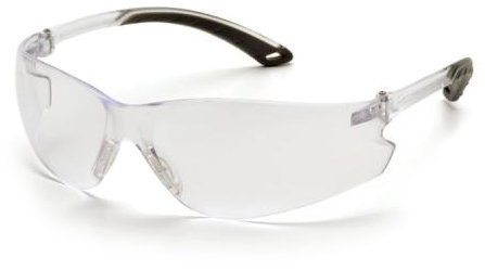 Pyramex Safety S5810ST - Occhiali di protezione Itek con rivestimento antiappannamento, protezione laterale, lenti trasparenti e montatura flessibile