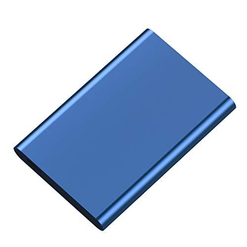 XBRMMM Disco Duro Externo De 2.5 Pulgadas Caddy Sata Ssd HDD 160GB, 250GB, 320GB, 500GB, 1TB, 2 TB Disco Duro Externo para PC Laptop Y Mac Ps4 Disco Duro Externo (Azul)