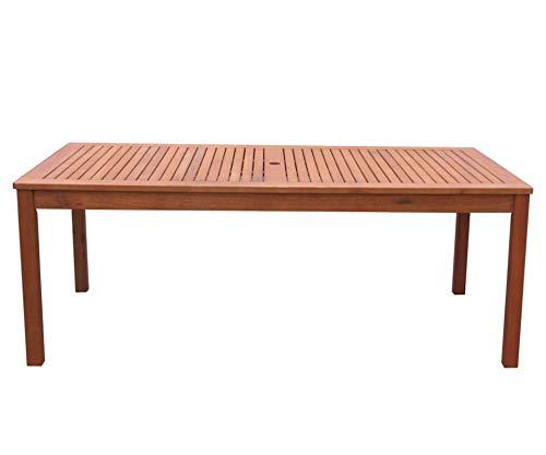GRASEKAMP Qualität seit 1972 Gartentisch 200x100cm Natur Esstisch Holztisch Gartenmöbel Eukalyptus