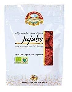 Jujube Dattes Chinoises Bio 490g séchées aux soleil, crues,
