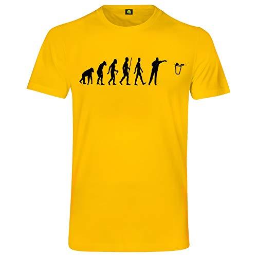 Evolution Bier Pong T-Shirt | Bierpong | Beer | Beerpong | Party | Alkohol Gelb L