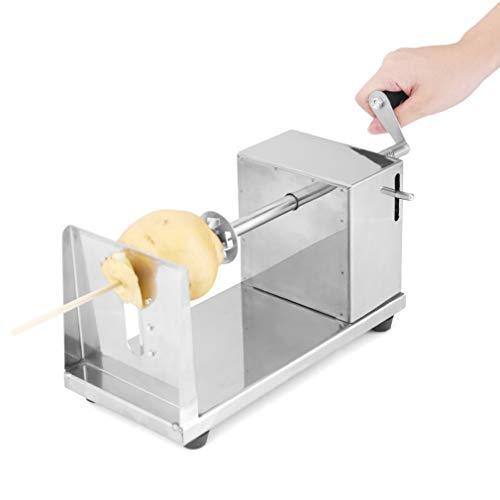 Kartoffelschneider Spiralschneider Edelstahl mit 2 Klingen, Uten Twister schneider Kartoffel Fruit Gemüse für Tornado Chips
