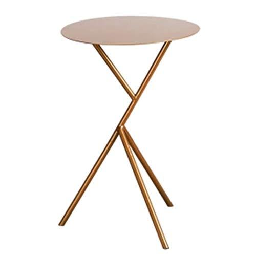 Tables basses en Fer Forgé Salon Canapé Côté Coin Or Petite Table Ronde Petite Table D'appoint Cadeau (Color : Gold, Size : 38 * 38 * 58cm)