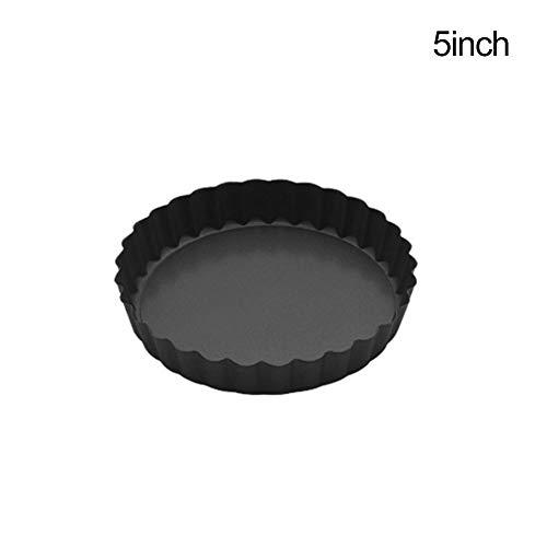 Greyghost anti-aanbaklaag Chrysant Pie Plate Quiche Flan Pan Mallen met Verwijderbare Bottom Cake Pan Ronde Koolstofstaal Bakplaten Cake Baking Gereedschap A