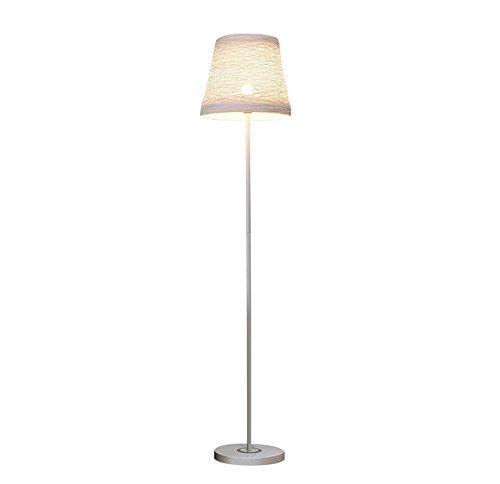Ronde lampe couverture salon étude chambre lampadaire chevet piano fer lampe verticale (Couleur : Blanc)