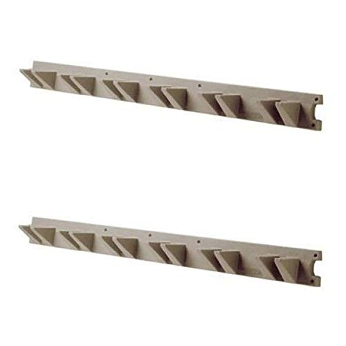 Suncast 4 Foot Handled Garden Tool Shed & Garage Wall Hanger, Platinum (2 Pack)