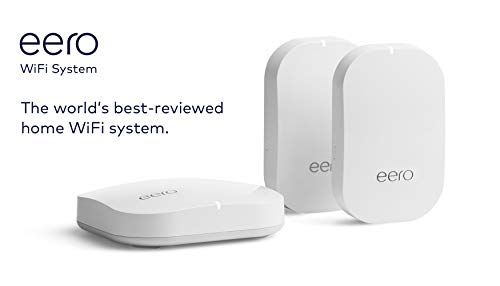 Amazon eero Pro mesh WiFi system (1 Pro + 2 Beacons) 15 Whole-home WiFi system - The Amazon eero Pro mesh WiFi system (3 eero Pros) replaces the traditional WiFi router, WiFi extender, and internet booster by covering a 5+ bedroom home with fast and reliable internet powered by a mesh network. eero 2nd generation - With the most intelligent mesh WiFi technology and powerful hardware, the eero 2nd generation WiFi system is 2x as fast as the original eero WiFi. Backwards compatible with 1st generation eero products. Cutting edge home WiFi - Unlike the common internet routers and wireless access points, eero automatically updates once a month, always keeping your home WiFi system on the cutting edge.
