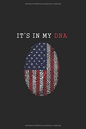 It's In My DNA test Native American DNA Test DNA Ancestry: Notizbuch (15,24cm x 22,86cm) 120 Seiten Kariert (4x4)