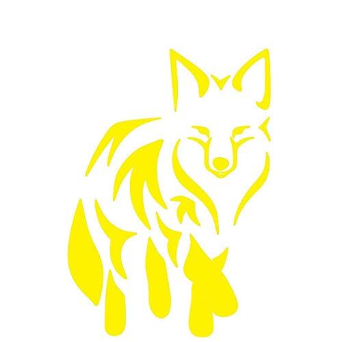 Pegatinas Divertidas Etiqueta engomada del Coche Crafty Fox Stickers Dibujos Animados Decoración Coches Tronco PVC Auto Accesorios Calcomanías Creativa Impermeable Sol Decal 17 x 12 cm