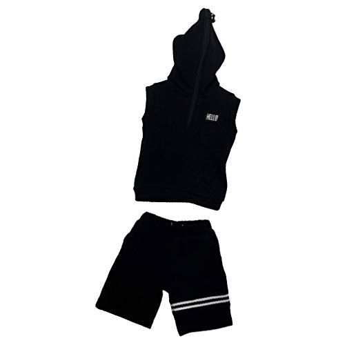 1/6 Male Figures Body Clothing Sleeveless Hoodie Sweatshirt for 12