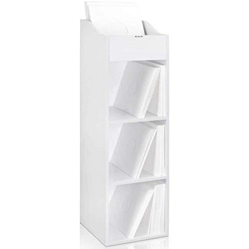 Zomo VS BOX 100/4 Scaffale da record con spazio per 400-480 LP, Bianco
