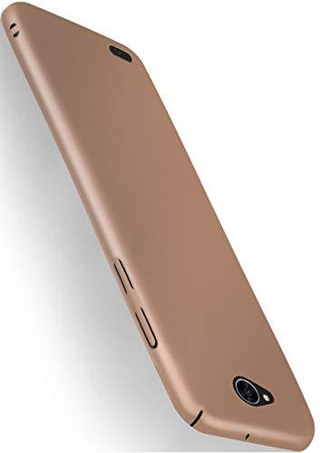 MoEx® Funda Trasera [Ultrafina] Compatible con LG X Power 2 | Metálico Mate doré