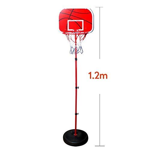 170CM Basketball Rack höhenverstellbar Kinderbasketballkorb Spielzeug-Set Junge Trainingsübung Zubehör 2 Basketball (Color : 1.2m)