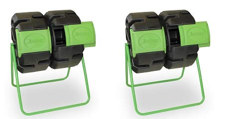 Best Deals! FCMP Outdoor Dual Body Tumbling Composter by HOTFROG (2-(Pack))