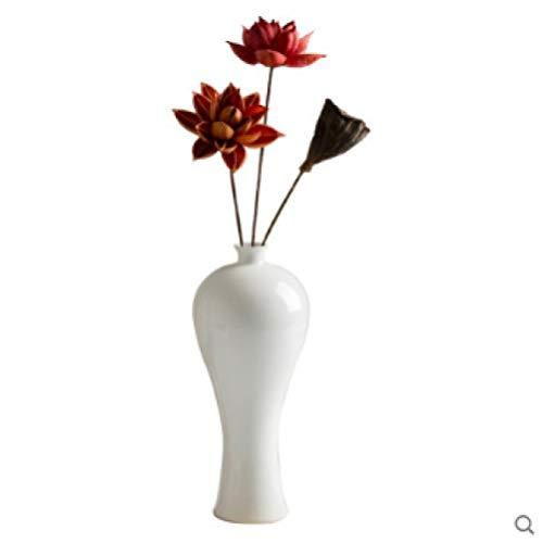 Jingdezhen keramische decoratie woonkamer moderne minimalistische veranda tv-kast gedroogd bloem decoratie IKEA witte vaas trompet
