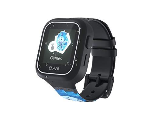 2G Reloj Inteligente Niño y Niña GPS Localizador y Llamadas Bidireccionales Audio, Chat de Voz, Botón SOS, Impermeable, Cámara, Juegos - ELARI FixiTime Lite (Negro)