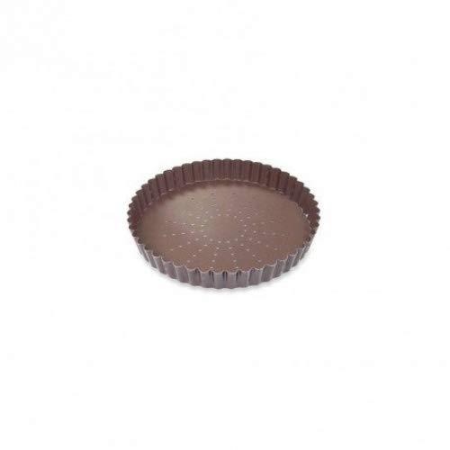 GOBEL Moule à tarte 22 cm fond mobile perforé anti adhérent 226425
