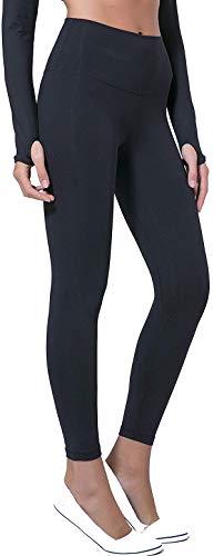Leslady Sporthose Damen Yoga Leggingsmit Hoher Taille Push up Sport Leggings, Ideal für Yoga Fitness Sport Pilates Laufen, Schwarz, L(Tag 10: Taille:64, Hüften:82)