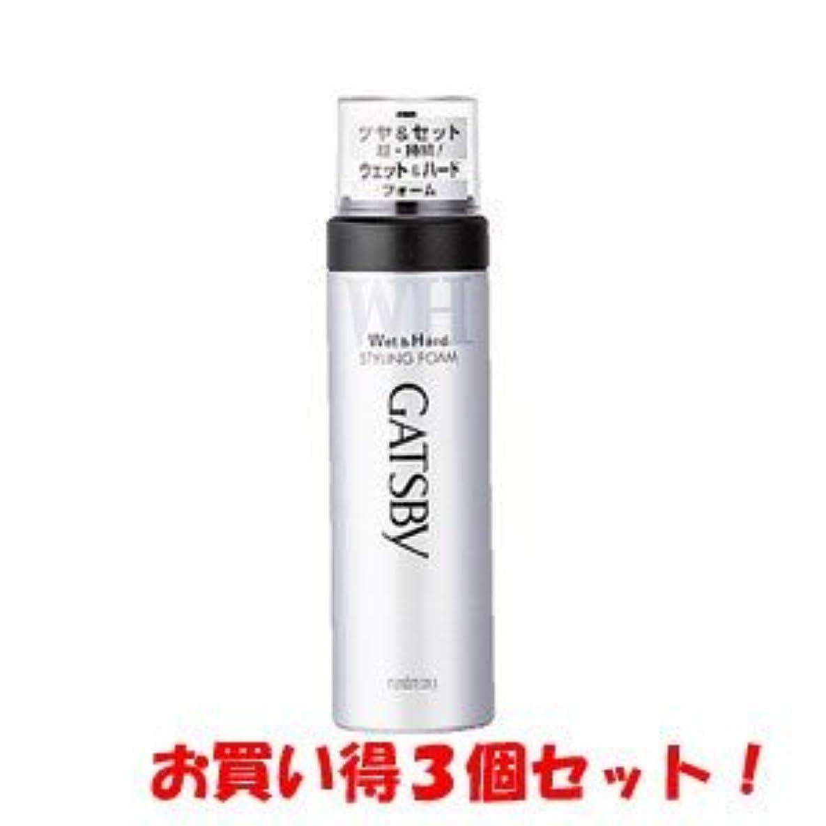 ピンポイント担当者予防接種ギャツビー【GATSBY】スタイリングフォーム ウェット&ハード 185g(お買い得3個セット)