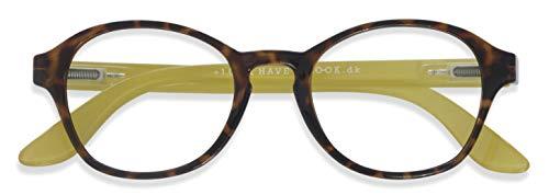老眼鏡 リーディンググラス おしゃれな 北欧デザインHAL CIRCLE TORTOISE/LIME (+1.00)