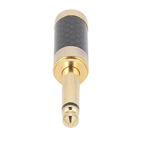 minifinker Prise Audio stéréo, connecteur de câbles Adaptateur stéréo, matériau métallique pour mélangeur de Microphone, Haut-Parleur pour équipement d'interface 6,35 mm