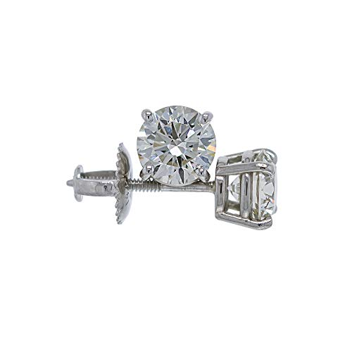 IGI Certified 1.5 Carat Lab-Grown Diamond Stud Earrings 14kt White Gold (I-J Color VS2-SI1 Clarity)