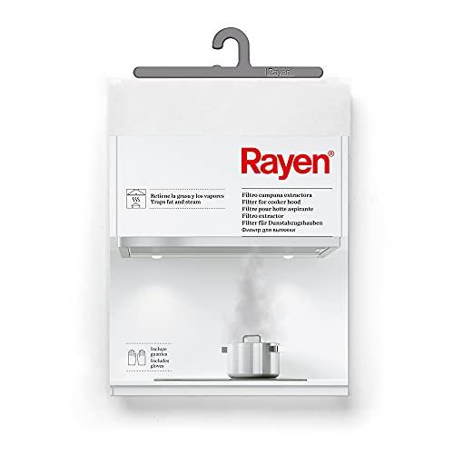 Rayen | Filtro camana extractora | Retiene la grasa y los vapores | Incluye 1 Filtro y 2 Guantes | Recortable | Medidas: 45 x 54 cm