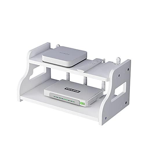 JYMEI Estante de WiFi Set-Top Box Soporte de colocación Estante Flotante Cajas de Almacenamiento para decodificadores de Cable/enrutadores/Control Remoto/Reproductores de DVD (30 * 20 * 14 cm)