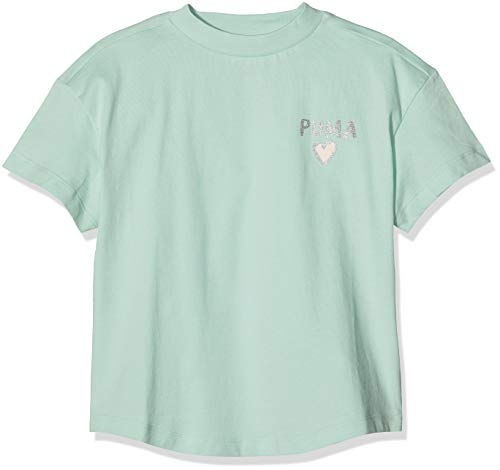 PUMA Alpha Trend Tee G T-Shirt Fille, Mist Green, 140