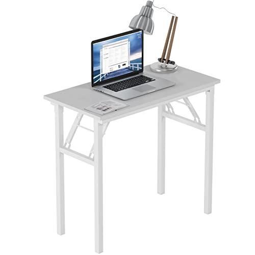 Need Mesa plegable para ordenador de 80 x 40 cm, estación de trabajo para el hogar, oficina, escritorio de estudio con certificación BIFMA, color blanco, AC5DW-8040