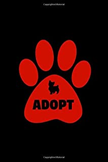"""Adopt: Dog Adoption Notebook for 1 Year with helpful Tips in 6"""" x 9"""" with 100 pages (Dog Rescue)"""