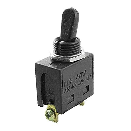 YSJSPKK Interruptores de Palanca Cambio de Encendido/Apagado de 250V Interruptor de Palanca para un Molinillo de ángulo Componente electrónico (Color : Black, Voltage : 250 v)