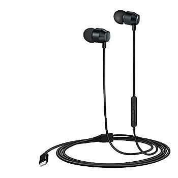 PALOVUE Lightning Headphones Earphones Earbuds in-Ear Magnetic MFi Certified with Microphone Controller Compatible iPhone 11 Pro Max X XS Max XR iPhone 8 Plus iPhone 7Plus Earflow  Metallic Black