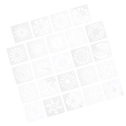 EXCEART Plantillas de Mandala de 24 Piezas Plantillas de Pintura de Mandala Reutilizables para Pintura de Plantillas de Muebles de Tela de Azulejos de Pared de Piso 13. 5X13. 5Cm / 5.