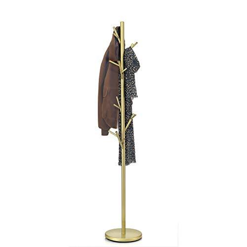 IDIMEX Kleiderständer Garderobenständer Kleiderstange Garderobe ZENO Metall golden lackiert