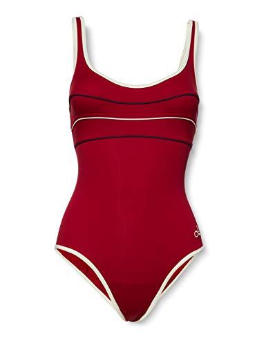 Livia ANTHENIA VALMER Maillot Une pièce, Rouge (Bordeaux Wonder 41E59), 135 (Taille Fabricant:46) Femme