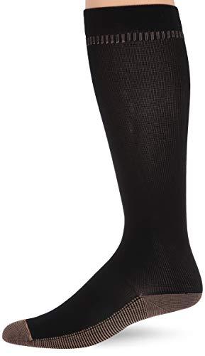 Travelon Med. Copper Infused Compression Socks, Black